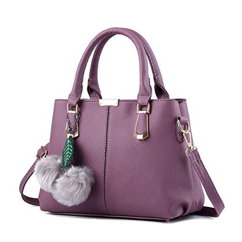 Borsa AVERIL a a mano Tote in borsa Handbag Bag Donna Bag Spalla Donna viola pelle G Shoulder Borse PU nAxY7n4