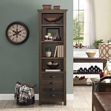 Amazon Better Homes And Gardens Granary Modern Farmhouse Tower Aged Brown Ash Kitchen Dining