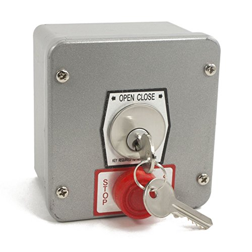 MMTC NEMA 1KXS Push Button Station - Surface Mount Open-Close Key Switch With Stop - Mount Button Surface