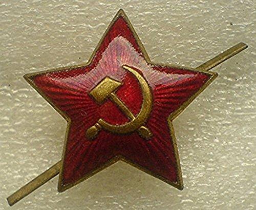 WWII Original Sign Soviet RED STAR USSR Russian Army Red Star Hat Cap Cockade Cold War era Communist Bolshevik Period