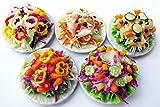 Mixed Assorted 5 Salad Dollhouse Miniature Food, Barbie Food