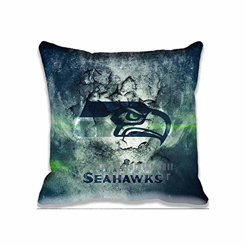 Sports Pillowcase (Best Seahawks Throw Pillow Case sport Cushion Cover Unique Design Pillowcase Cotton Throw)