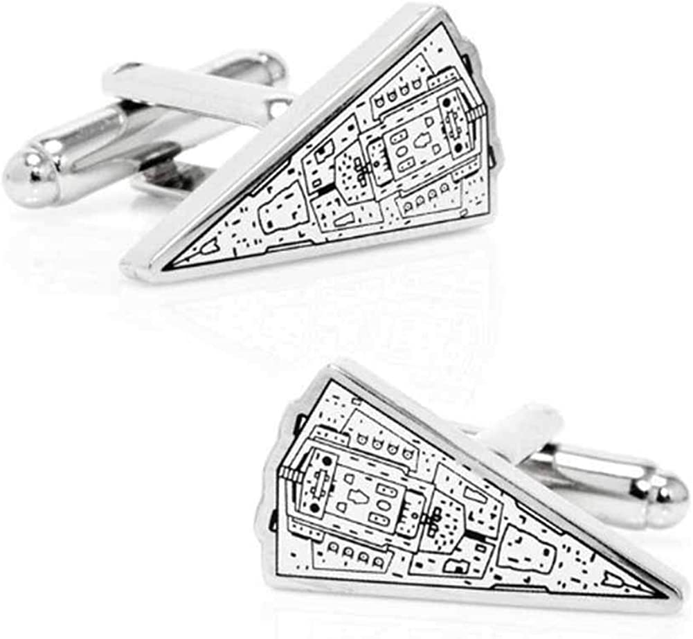 SW-ISD-BP Cufflinks Inc Star Wars Imperial Star Destroyer Blueprint Cufflinks