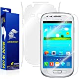 ArmorSuit MilitaryShield - Samsung Galaxy S3 Mini Screen Protector + Full Body Skin Protector / Front + Back Anti-Bubble Ultra HD - Extreme Clarity & Touch Responsive Shield with Lifetime Free Replacements - Retail Packaging