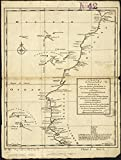 Historic Map | 1745-1747 A chart of the western coast of Africa, from the Straits of Gibraltar to eleven degrees of north latitude : including the Canary & Cape Verd Islands | Vintage Reproduction