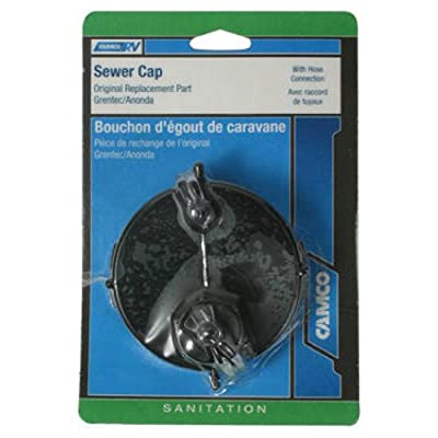 Camco 39463 Sewer Cap with Hose Connection
