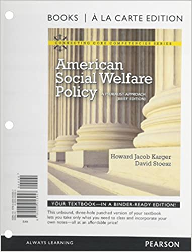 American social welfare policy: a pluralist approach, brief.