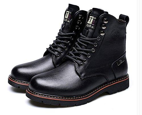 HL-PYL - Stiefel Martin Stiefel Warme kurze Stiefel Stiefel Stiefel und Schuhe aus Baumwolle 43 Schwarz