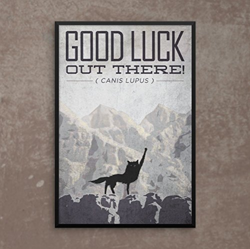 Fantastic Mr. Fox Poster, Good Luck Out There! Fist in the Air Poster or Framed Print