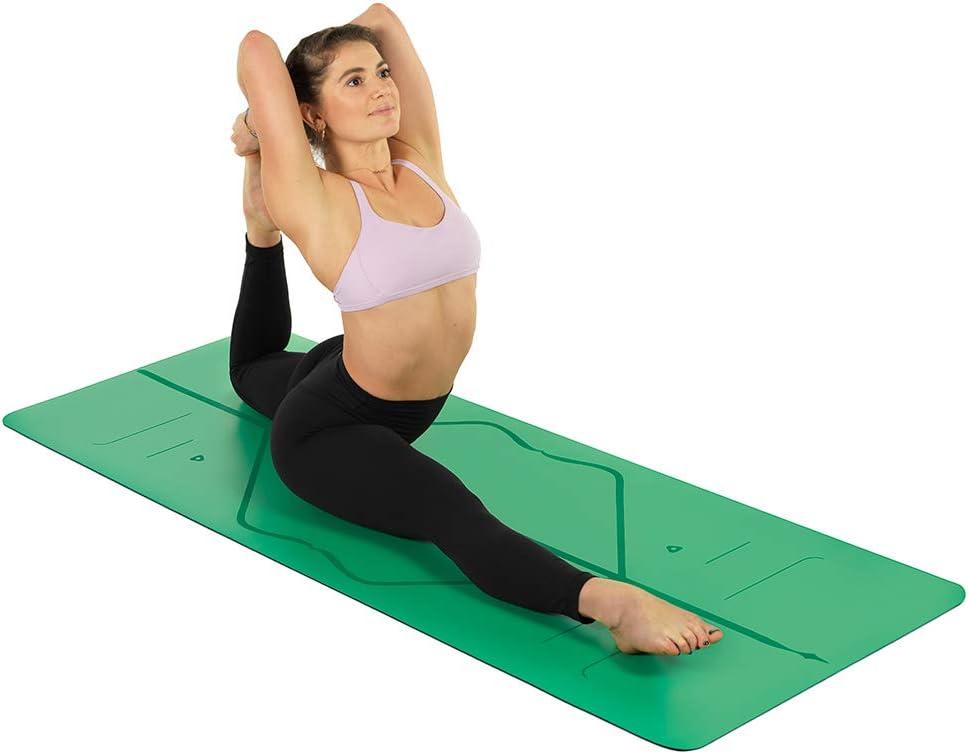 Amazon.com: Liforme Yoga Mat & Travel Mat Bundle Blue/Green ...