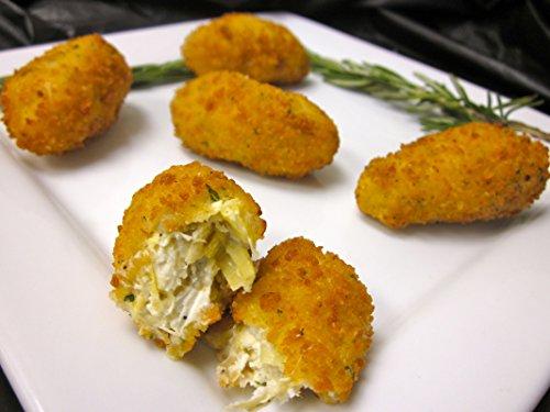 Breaded Parmesan Artichoke Hearts - Vegetarian Gourmet Frozen Appetizers (50 Piece Tray) Frozen Artichoke Hearts
