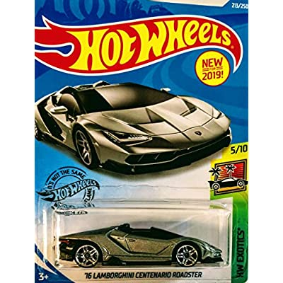 Hot Wheels Lamborghini Bundle 16 Lamborghini Centenario Roadster Grey 213/250 and Lamborghini Huracan LP 620 2 Super Trofeo Orange 268/365 2 Car Set: Toys & Games