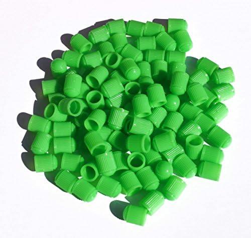 カラープラスチックタイヤバルブステムキャップ 25個パック