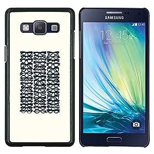 Stuss Case / Funda Carcasa protectora - Gafas Optimetrist minimalista Hipster - Samsung Galaxy A5 ( A5000 ) 2014 Version