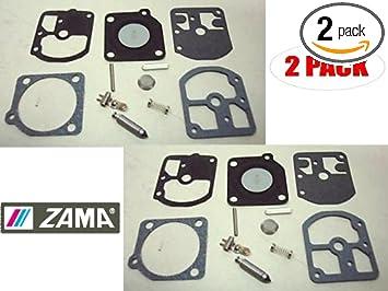 Zama 2 Pack Of Genuine OEM Replacement Carb Repair Kits # RB-162-2PK