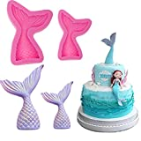 Luxkitto 4 Pack Mold Mermaid Tail Mold Silicone