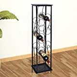 Daonanba Elegant Stylish Wine Cabinet Metal Wine Cabinet Rack Wine Stand Classic Romantic Home Decoration Style D (8 Bottles)