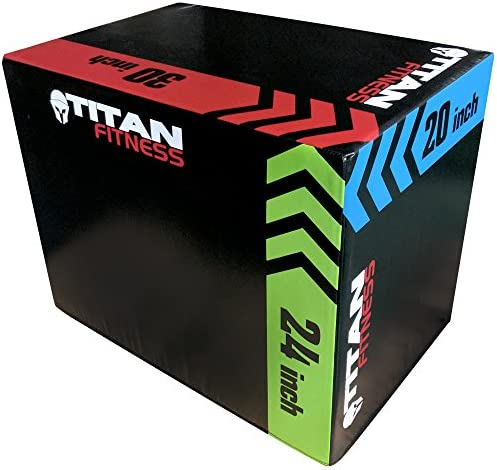 Titan Fitness 3 in 1 20 24 30 Foam Plyometric Box Jumping Exercise