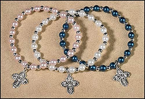 Four Way Imitation Pearl Bracelet Assortment (3 Asst) - 24/pk
