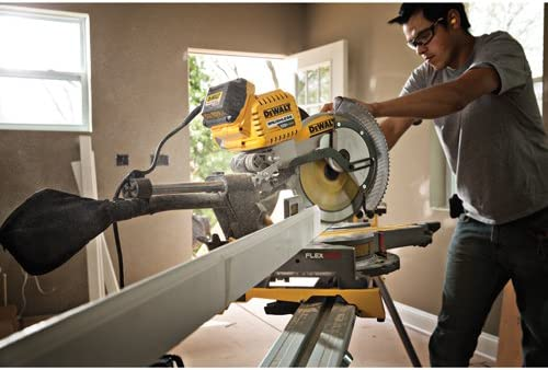 DEWALT DHS790AB FLEXVOLT 120V MAX Double Bevel Compound Sliding Miter Saw with Adapter Only Tool Adapter Only