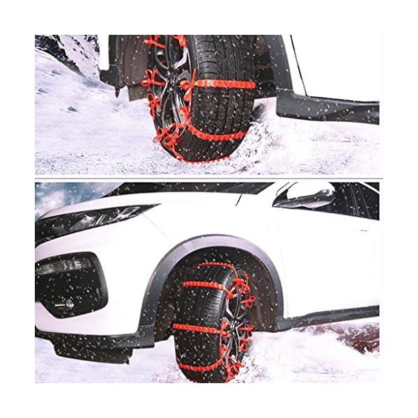 KIMISS 10 pièces Chaîne de Neige Antidérapante de Chaînes de Sécurité de Voiture de Chaînes de voitures