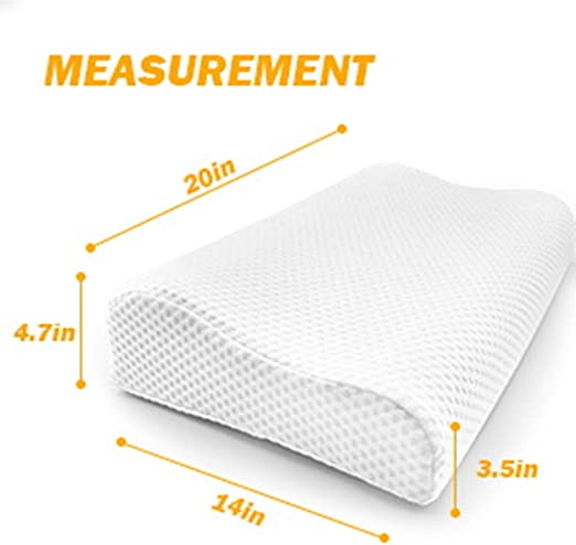 Orthopedic Memory Foam Contour Pillow Cervical Neck Support Bamboo Cover