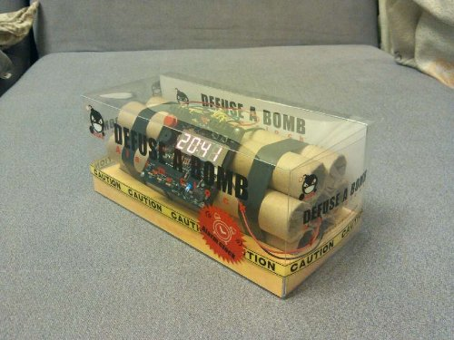 Novelty Defusable Bomb Alarm Clock Bomb Like Alarm Clock