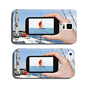 taking photo yacht with red sail in Adriatic sea cell phone cover case iPhone6 Plus