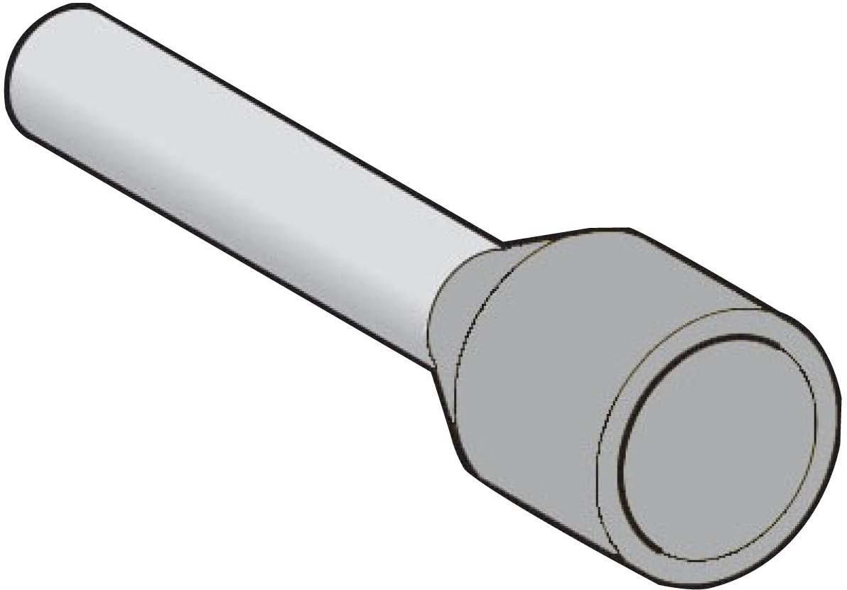 2.5 mm2 embout de cablage gris schneider electric dz5ce025