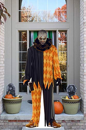 aahs!! Engraving Halloween Haunted House Life Size Cardboard Stand Up (Cannibal Clown with Hammer)