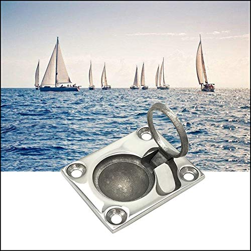 48 39mm 316 Stainless Steel Boat Accessories Marine Ring Handle Cover Flush Hatch Locker Cabinet Pull Lift