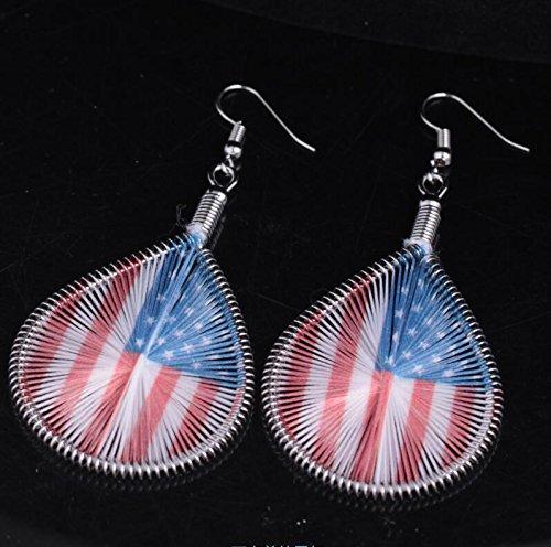 Luvalti American Flag Earrings Memory Day Jewlery Gift