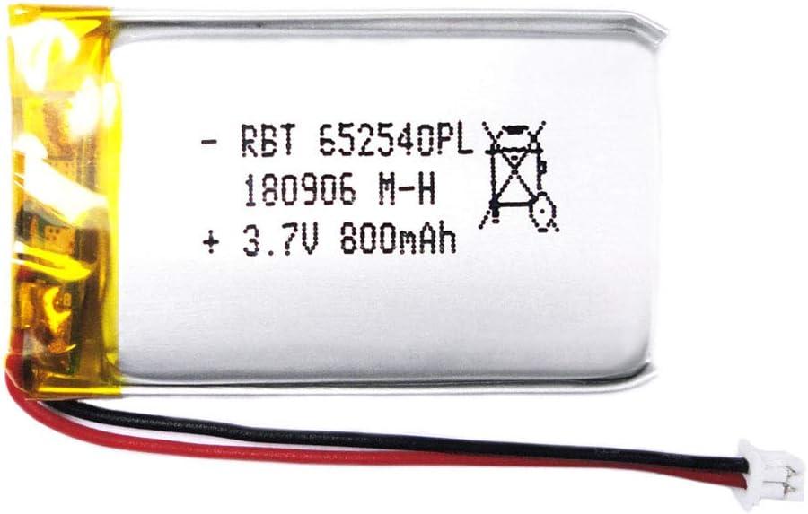 BrightTea 3.7V 800mAh Lithium Ion Polymer Battery Rechargeable Battery Li-ion Li-Po