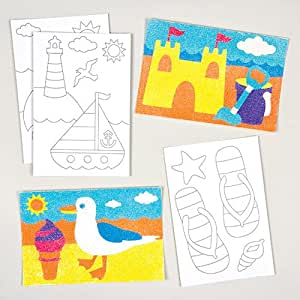 Beach and seaside sand art pictures for for Amazon arts and crafts for kids