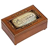 Life is Not Measured by the Breaths You Take Walnut Finish Petite Jewelry Music Box Plays Wonderful World