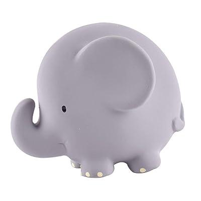Tikiri My First Safari Elephant Natural Rubber Rattle (Gray): Toys & Games
