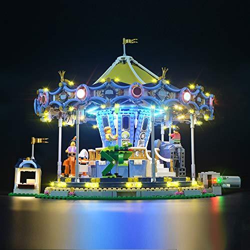 Juego de luces LIGHTAILING para bloques de construcción (Creator Expert Carousel) - Kit de luces LED Compatible con Lego 10257 (NO incluido el modelo)