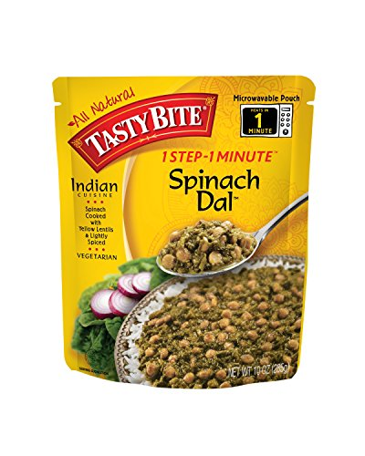 Price comparison product image Tasty Bite Spinach Dal Heat & Eat Entree,  10 Ounce Pouches (Pack of 6)