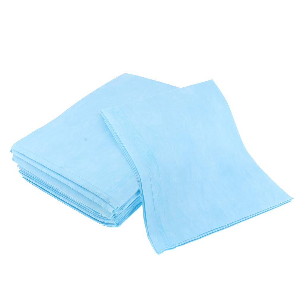 kesoto 20pi/èces Drap Housse De Protection Pour Table De Massage Prot/ège-matelas Imperm/éable Bleu R/ésistant /à Lhuile Pour Salon De Beaut/é