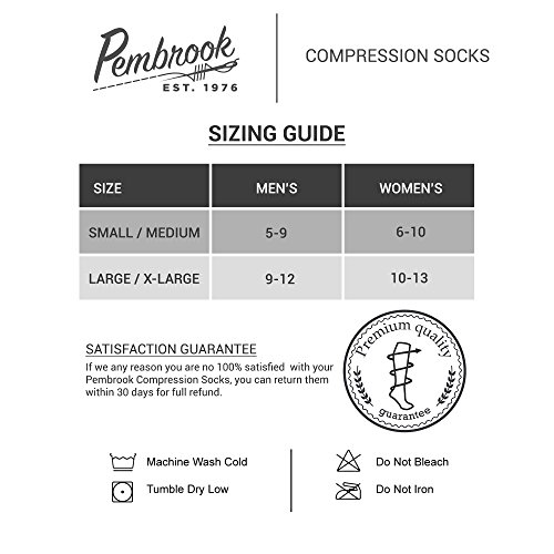 Men's Compression Socks (6-Pack) – L/XL – Navy - Graduated Muscle Support, Relief and Recovery. Great for Running, Medical, Athletic, Diabetic, Travel, Nursing (8-15 mmHg) by Pembrook (Image #8)