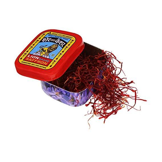 Lion Saffron, Original Kashmir Lacha Saffron/ Kesar/ Keshar (Certified Grade A) for Biryani, Beauty, Improved Health and