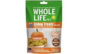 Whole Life Pet Probiotic Dog Treats Pumpkin Blended with Probiotics to Promote Healthy Digestion, Protein from USDA Certified Chicken, 3 Ounce