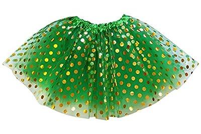 So Sydney Adult, Plus, Kids ST. Patrick's Patty's Day Shamrock Irish Green Tutu Skirt