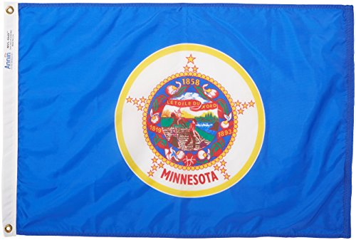 Cheap Annin Flagmakers Model 142750 Minnesota State Flag Nylon SolarGuard NYL-Glo, 2×3 ft, 100% Made in USA to Official Design Specifications