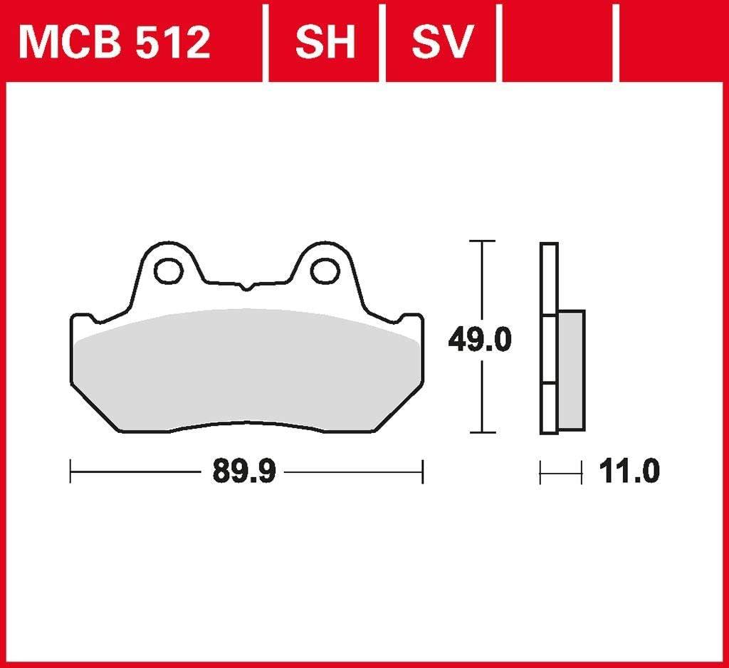 Bremsbelag TRW organischer Allround-Bremsbelag XL 600 V Transalp PD06 87-90 vorne