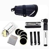 BicycleStore Repair Tool Kit Set with Saddle Bag Multi-Function Purpose Bike Mini Pump Tire Inflator Patch Crowbar