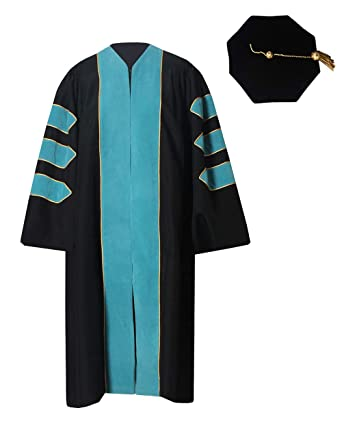 f22dee2b3c Amazon.com  GraduationForYou Deluxe Doctoral Gown and 8-Sided Tam ...
