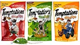 Temptations Low Calorie Mix-Ups Cat Treats 3 Flavor Variety with Toy Bundle, 1 each: Backyard Cookout, Catnip Fever and Farmer's Feast, 3 Ounces ea. Review