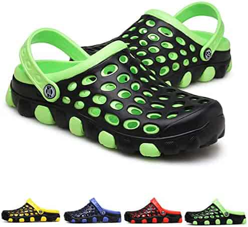 f71b0ce9cefdea PHILDA Men's Garden Clogs Lightweight Mesh Breathable Sandals Quick Drying  Water Shoes Non Slip Slippers