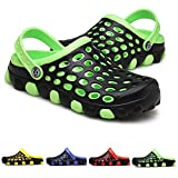 PHILDA Men's Breathable Water Sandals Lightweight Mesh Quick Drying Garden Clog Shoes Non Slip Slippers Green 43
